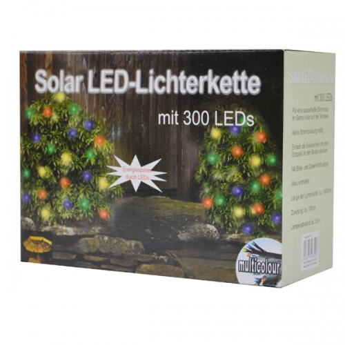 solar led lichterkette 300 bunt ebay. Black Bedroom Furniture Sets. Home Design Ideas