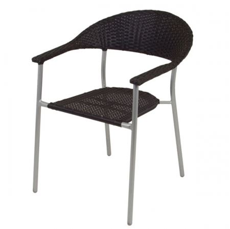 thomas philipps onlineshop alu wicker bistrostuhl schwarz. Black Bedroom Furniture Sets. Home Design Ideas
