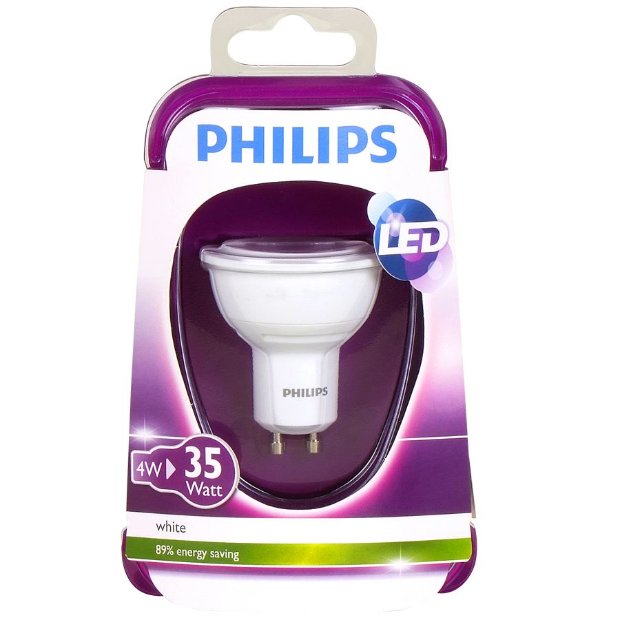 philips led lampe 4w gu10 ebay. Black Bedroom Furniture Sets. Home Design Ideas