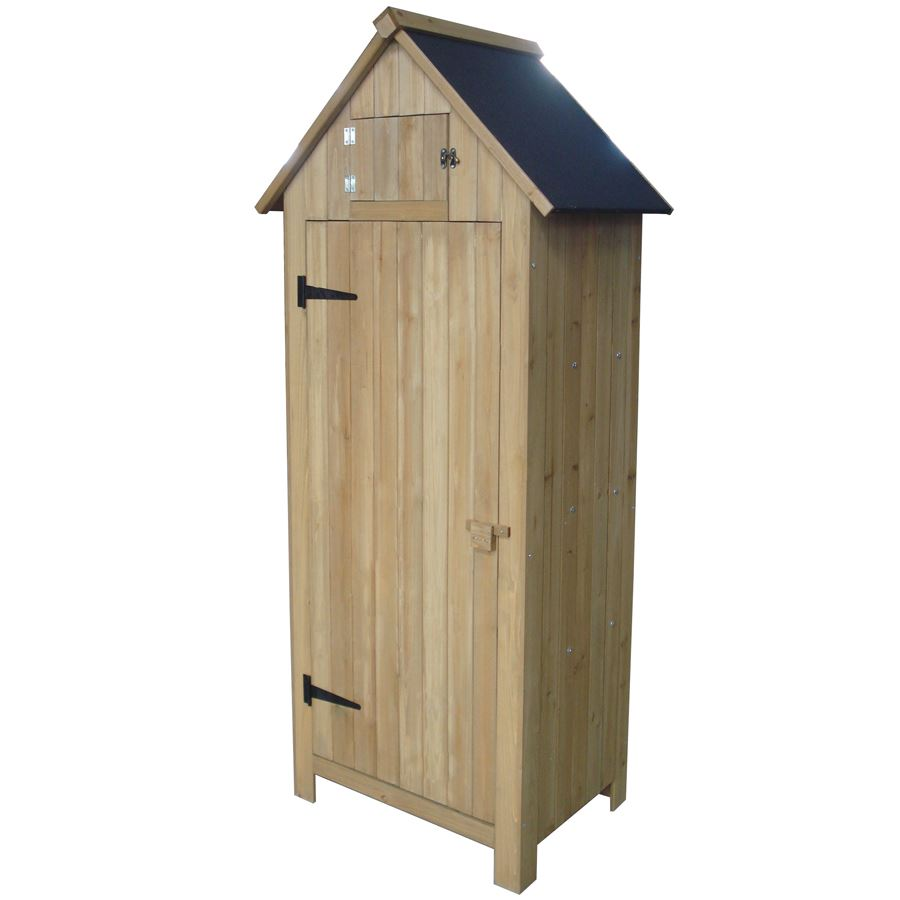 thomas philipps onlineshop holz gartenschrank 179cm natur. Black Bedroom Furniture Sets. Home Design Ideas