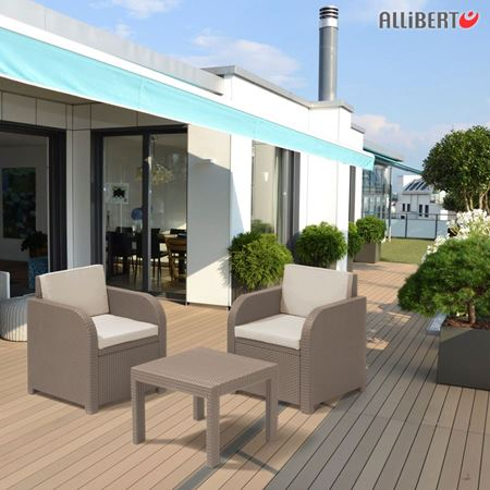 thomas philipps onlineshop allibert balkon sitzgruppe mississippi cappuccino. Black Bedroom Furniture Sets. Home Design Ideas