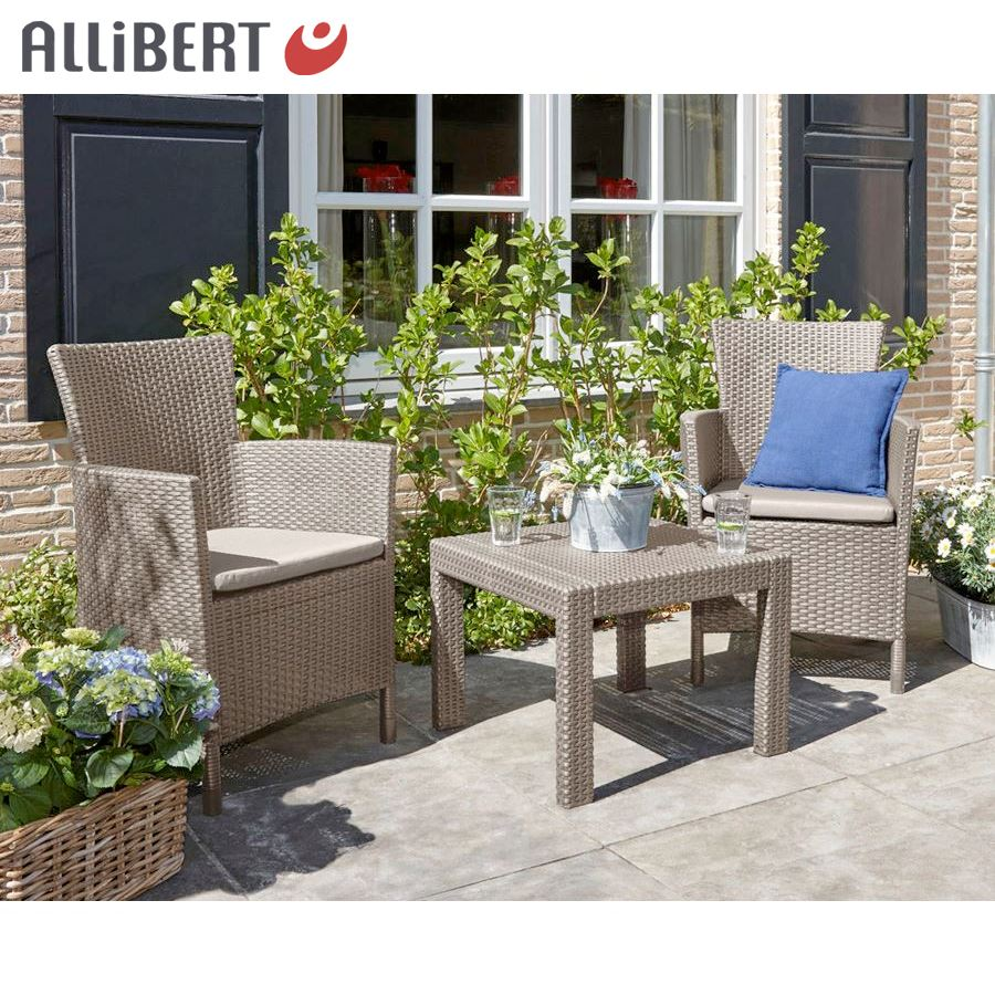 allibert balkon sitzgruppe utah cappuccino eur 108 50 picclick de. Black Bedroom Furniture Sets. Home Design Ideas
