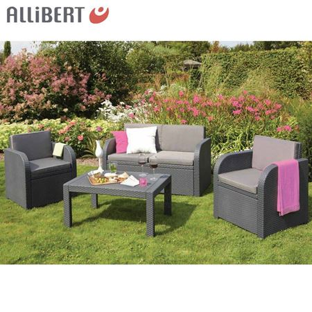 Bild von Allibert Lounge-Gruppe Mississippi Graphit
