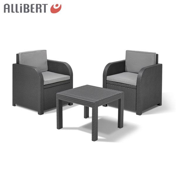thomas philipps onlineshop allibert balkon sitzgruppe mississippi graphit. Black Bedroom Furniture Sets. Home Design Ideas