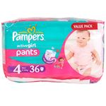 Bild von Pampers active girl 36er Gr. 4 Maxi