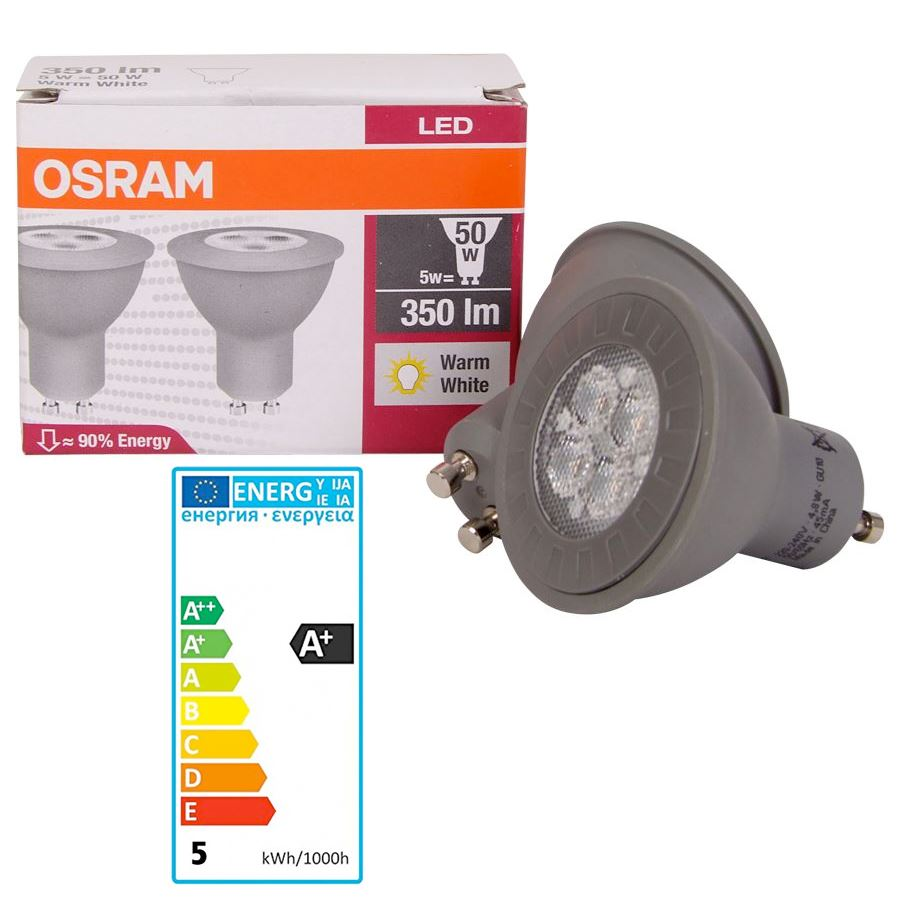osram led par16 50 36 5w gu10 2er pack ebay. Black Bedroom Furniture Sets. Home Design Ideas