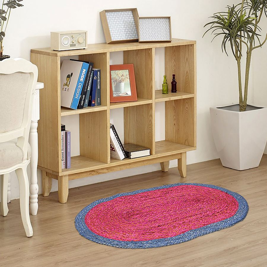 thomas philipps onlineshop jute teppich oval 90cm. Black Bedroom Furniture Sets. Home Design Ideas
