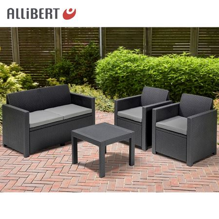 thomas philipps onlineshop allibert lounge sitzgruppe alabama graphit mit sitzauflagen. Black Bedroom Furniture Sets. Home Design Ideas