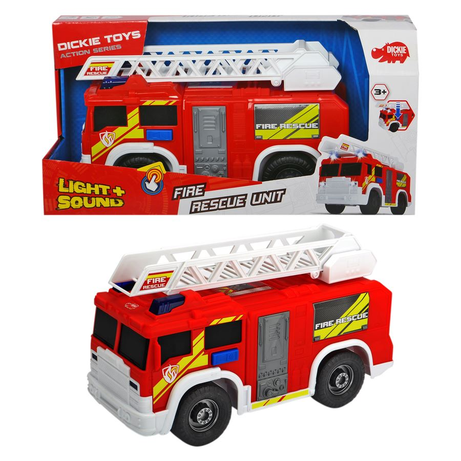 thomas philipps onlineshop dickie toys feuerwehrauto fire rescue unit. Black Bedroom Furniture Sets. Home Design Ideas