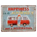 Bild von Blechschild Happiness is a Journey 40x30cm