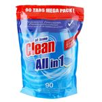 Bild von at home Clean All in 1 Spülmaschinentabs 90er